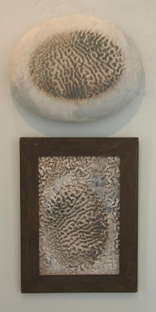 2 in 1, 2012, glazed earthenware with photo decal, 45 x 10 x 100 cm_