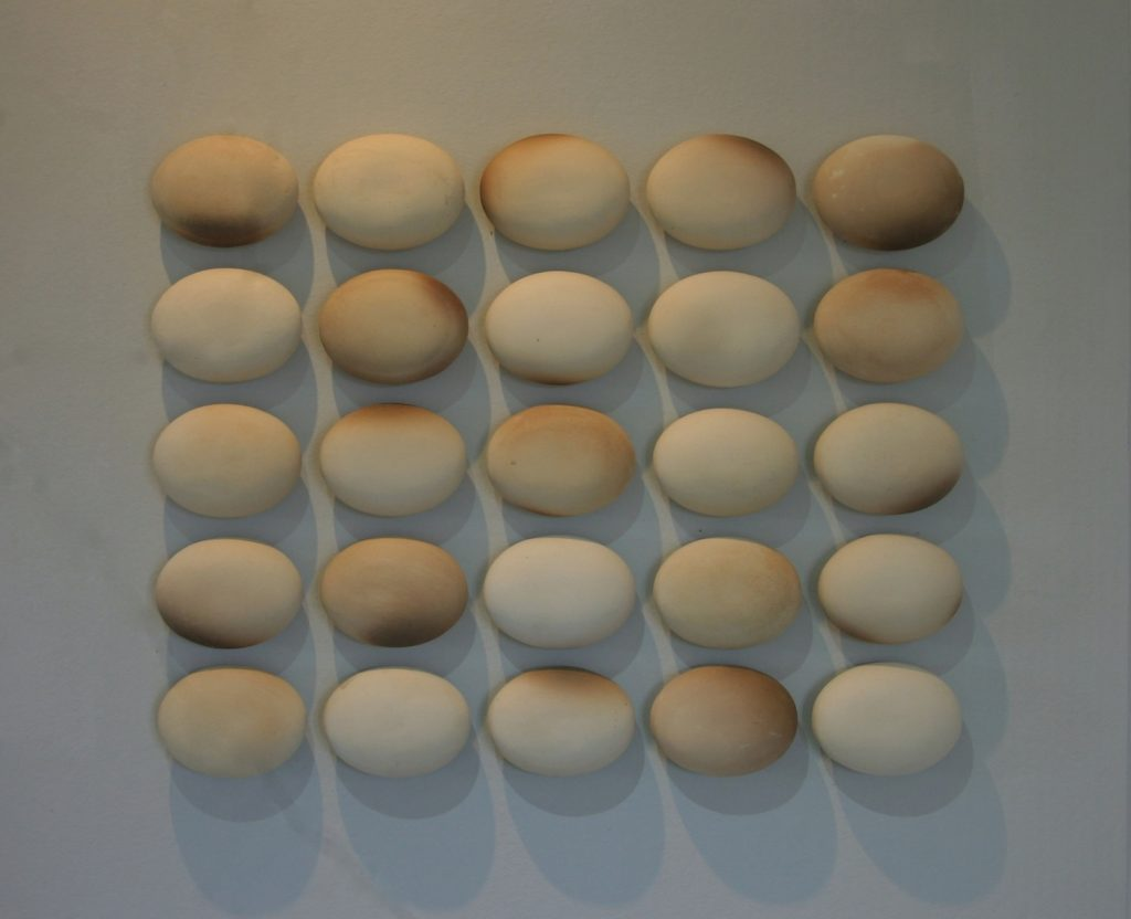 Composition without dissonance, 2010, stoneware, 97 x 5 x 83 cm