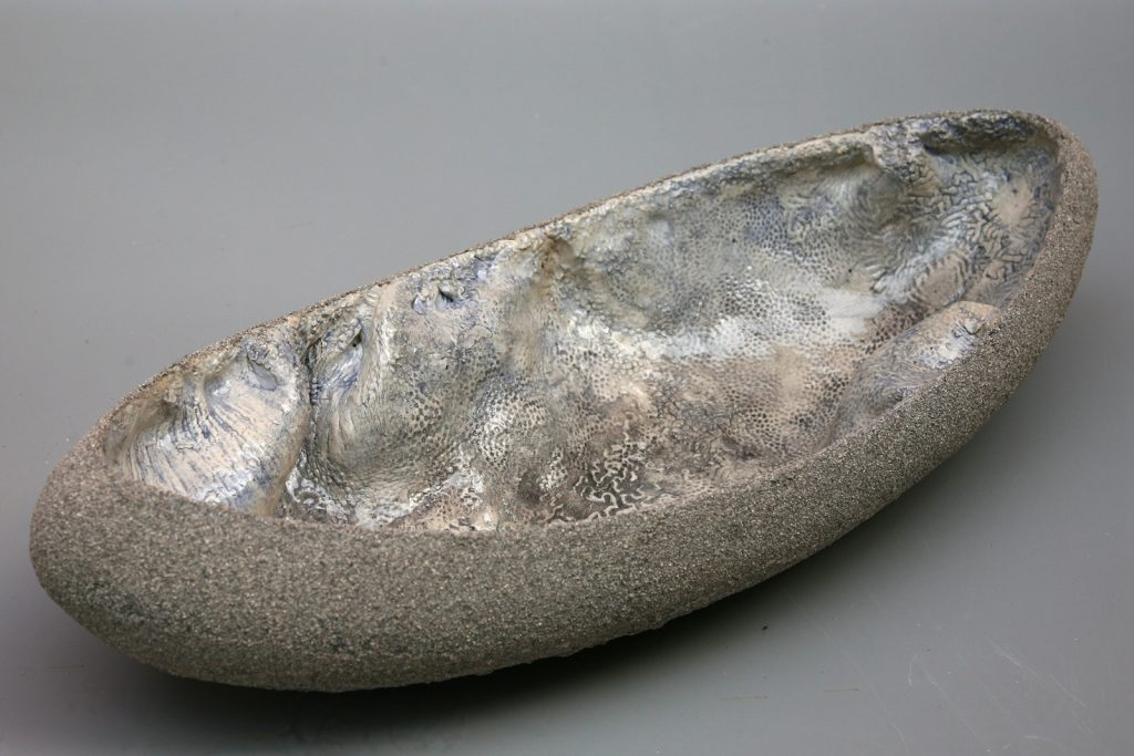 Large Layered Bowl, 2011, glazed earthenware, 55 x 20 x 8 cm