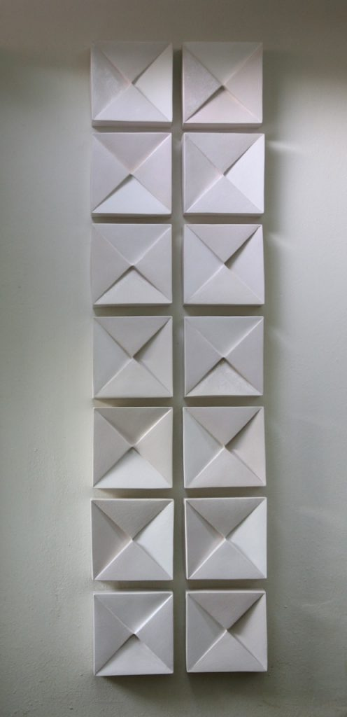 Squares and Triangles_2013_260 x 72 x 10 cm_glazed earthenware