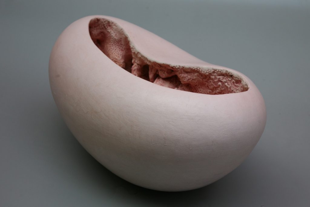 Pink Bowl, 2011, glazed earthenware and terra sigillata, 30 x 40 x 30 cm