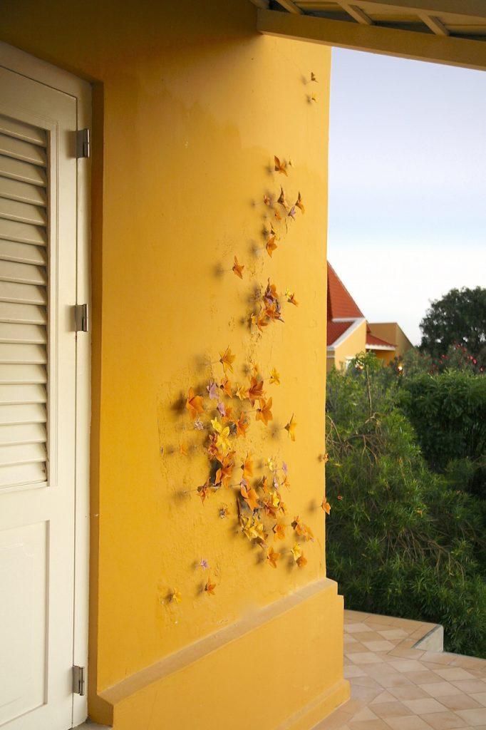 Wall Flowers, 2014, glazed stoneware, 200 x 12 x 350 cm