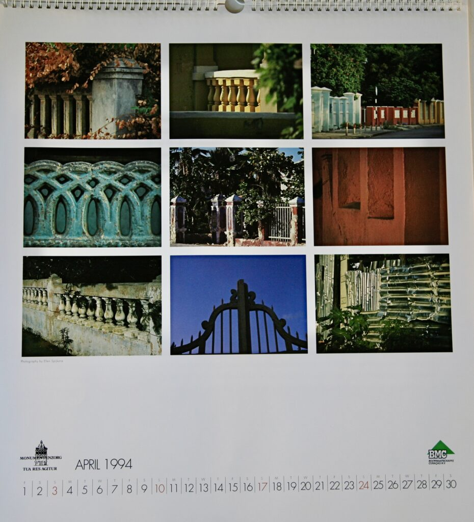 Calendar, commissioned by Stichting Monumentenzorg, 1994