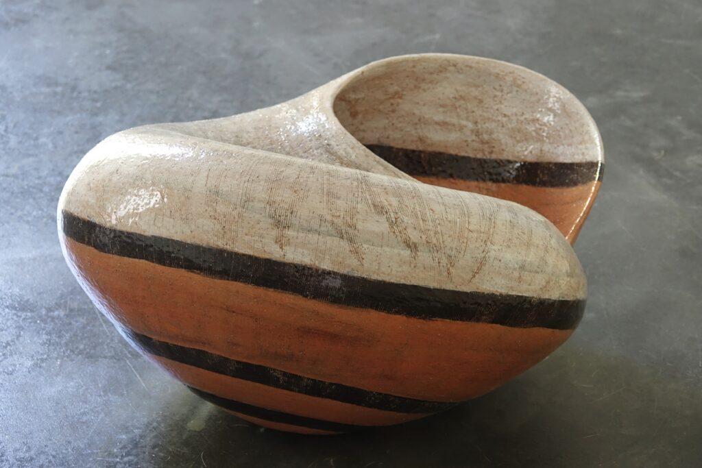 Helix naninia, 2020, glazed earthenware, 57 x 46 x 30 cm