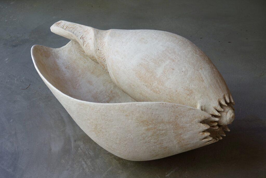 Melo aethiopica, 2021, stoneware, 70 x 29 x 40 cm
