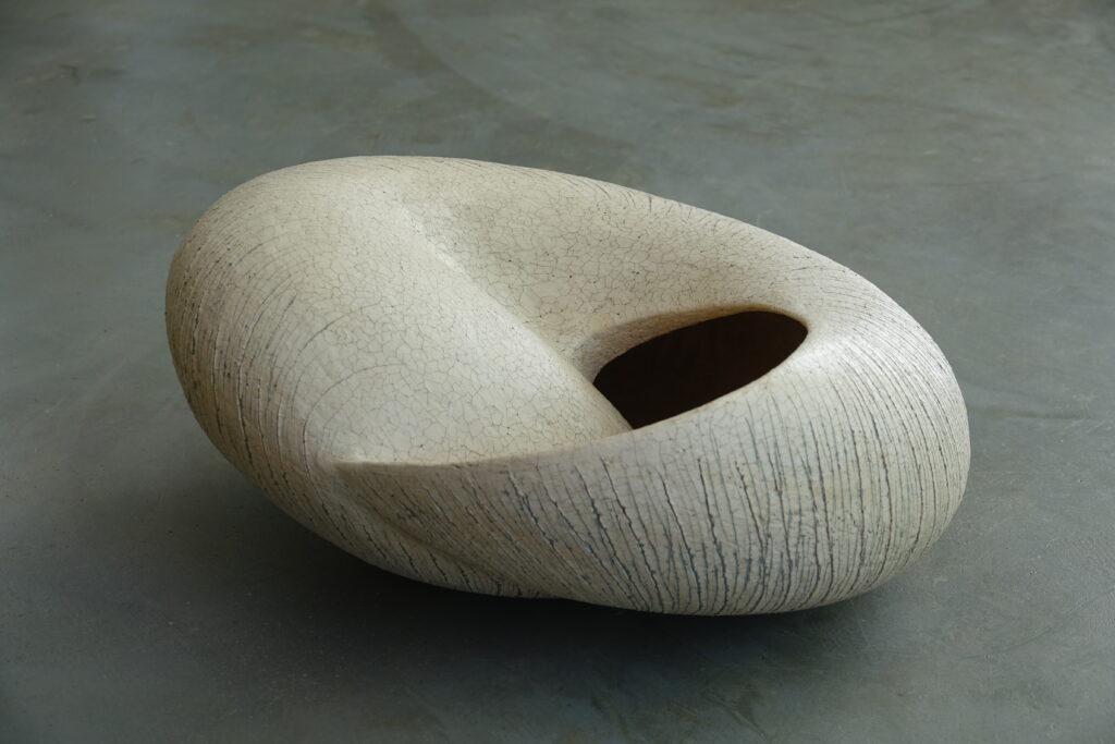 Zachrysia provisoria, 2020, stoneware, slips and oxides, 47 x 23 x 40 cm